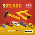 Traba Ruedas Pitbull + Traba Volante